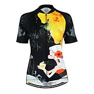 Arsuxeo Žene Kratkih rukava Biciklistička majica Cvjetni / Botanički Bicikl Biciklistička majica, Quick dry, Anatomski dizajn, Prozračnost