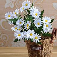 Flores artificiais 1 Ramo Pastoril Estilo Margaridas Flor de Mesa