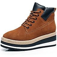 נשים נעליים עור נאפה Leather חורף סתיו נוחות גלדיאטור נעלי ספורט עבור קזו'אל מסיבה וערב שחור אפור חום