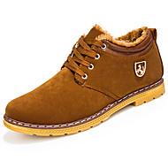 Masculino sapatos Pele Nobuck Inverno Outono Coturnos Botas Caminhada Botas Curtas / Ankle Cadarço de Borracha Para Amarelo Azul Vinho