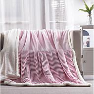 Superweich,Garngefärbt Gestreift Polyester / Baumwolle Decken