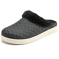 お買い得  メンズスリッパ&ビーチサンダル-男性用 靴 PUレザー 冬 ファーライニング スリッパ&フリップ・フロップ のために カジュアル ブラック グレー Brown ブルー