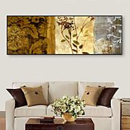 billige Innrammet kunst-Vintage Blomstret/Botanisk Tegning Veggkunst,PVC Materiale med ramme For Hjem Dekor Rammekunst Stue Soverom Kjøkken Spisestue Barnerom