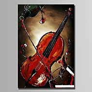 Hand-Painted Still Life Vertical,Abstract 1pc Canvas Oil Painting For Home Decoration
