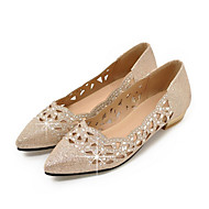 cheap Women's Flats-Women's Shoes Sparkling Glitter Spring Fall Comfort Novelty Flats Pointed Toe for Wedding Party & Evening Gold Silver
