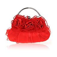 baratos Clutches & Bolsas de Noite-Mulheres Bolsas Seda Bolsa de Festa Fru-Fru Vermelho / Bege / Roxo