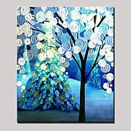billiga Blom-/växtmålningar-Hang målad oljemålning HANDMÅLAD - Blommig / Botanisk Djur Moderna Duk