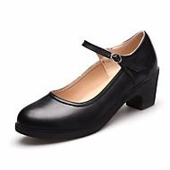 billige Moderne sko-Dame Moderne Lær Flate Trening Plattform Svart Sølv Rød