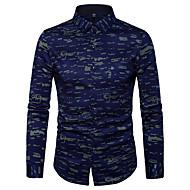 Masculino Camisa Social Casual Moda de Rua Estampado Poliéster Colarinho de Camisa Manga Longa