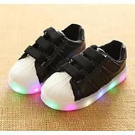 baratos Sapatos de Menina-Para Meninas Sapatos Couro Ecológico Primavera / Outono Conforto Tênis para Branco / Preto / Rosa claro