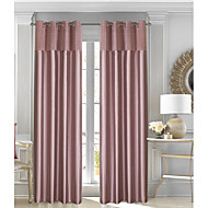 Rod Pocket Grommet Top Tab Top Double Pleat Pencil Pleat Curtain Contemporary Formal Casual Modern Country , Pleated Solid Color Block