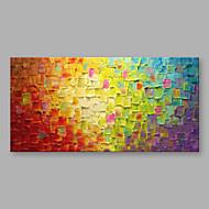 Maalattu Abstrakti Horizontal,Moderni 1 paneeli Kanvas Hang-Painted öljymaalaus For Kodinsisustus