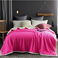 Superweich,Einfarbig Einheitliche Farbe Reine Baumwolle Decken