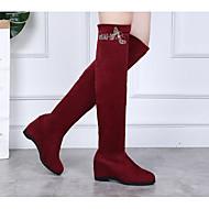 baratos Sapatilhas de Dança-Mulheres Botas de Dança Tecido Botas / Salto Estampa Plataforma Sapatos de Dança Preto / Vermelho / Ensaio / Prática
