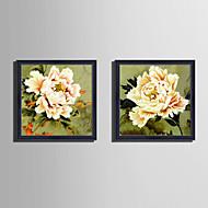 Botanisk Blomstret/Botanisk Still Life Innrammet Lerret Innrammet Sett Veggkunst,PVC Materiale med ramme For Hjem Dekor Rammekunst Stue