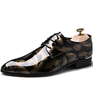 cheap Plus Size Shoes-Men's Shoes Patent Leather Fall / Winter Formal Shoes Oxfords Brown / Red / Blue / Party & Evening