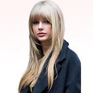 halpa -Naisten Ihmisen hiukset Capless Peruukit Musta Medium Auburn Medium Auburn / Bleach Blondi Pitkä Suora
