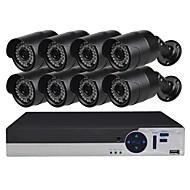 billige AHD-sæt-8ch sikkerhedssystem med 8ch 1080n ahd dvr 81.0mp vejrbestandige kameraer med nattesyn