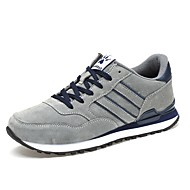 baratos Sapatos Masculinos-Homens Tule / Couro de Porco Outono / Inverno Conforto Tênis Cinzento / Azul