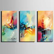 billiga Abstrakta målningar-Hang målad oljemålning HANDMÅLAD - Abstrakt Rustik Moderna Duk
