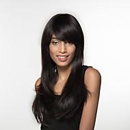Mulher Perucas de cabelo capless do cabelo humano Preto Natural mel loira médio Auburn Bege Loiro // Bleach Loiro Longo Reto
