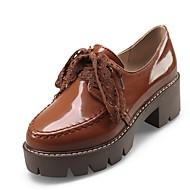 Naiset Kengät Kiiltonahka Personoidut materiaalit Kaikki vuodenajat Comfort Uutuus Oxford-kengät Pyöreä kärkinen Käyttötarkoitus Puku