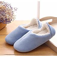 Feminino Sapatos Borracha Algodão Inverno Conforto Chinelos e flip-flops Para Casual Azul Escuro Roxo Pêssego Azul Marinho Azul