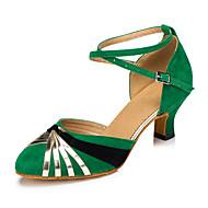 billige Moderne sko-Dame Moderne Kunstlær Joggesko Profesjonell Tykk hæl Rød Grønn Blå