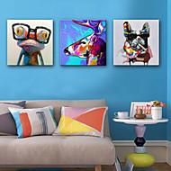 billiga Djurporträttmålningar-Hang målad oljemålning HANDMÅLAD - Djur Europeisk Stil Duk