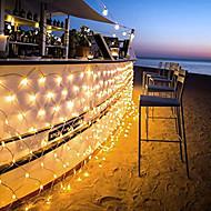 billiga Belysning-1.5m Ljusslingor 96 lysdioder Dip LED 1.5M x 1.5M Net String Light Varmvit / Kallvit / Multifärg 220-240 V / 110-120 V 1st / IP44