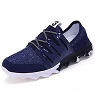 Masculino sapatos Couro Ecológico Primavera Outono Solados com Luzes Tênis Para Casual Preto Azul Branco/Preto