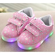 Para Meninas sapatos Couro Ecológico Inverno Outono Conforto Tênis para Casual Branco Preto Rosa claro