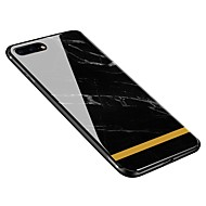 billiga Mobil cases & Skärmskydd-fodral Till Apple iPhone X iPhone 8 Plus Mönster Skal Marmor Mjukt Härdat glas för iPhone X iPhone 8 Plus iPhone 8 iPhone 7 Plus iPhone 7
