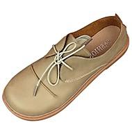 Feminino Sapatos Borracha Inverno Conforto Oxfords Ponta Redonda Para Preto Amarelo Marron