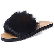 お買い得  レディーススリッパ&フリップフロップ-女性用 靴 ラバー 冬 コンフォートシューズ スリッパ&フリップ・フロップ のために アウトドア ブラック ベージュ グレー コーヒー
