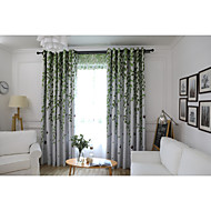 cheap Curtains & Drapes-Blackout Curtains Drapes Living Room Floral Graphic Prints Animal Polyester Printed