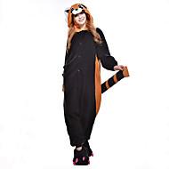 Kigurumi plišana pidžama Imajte Rakun Onesie pidžama Kostim Flis Sintetička vlakna Crn Cosplay Za Odrasli Zivotinja Odjeća Za Apavanje