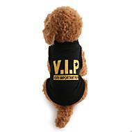 Psy T-shirt Ubrania dla psów Litery i cyfry Czarny Bawełna Kostium Na Zima