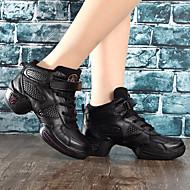 """Χαμηλού Κόστους Παπούτσια Χορού-Γυναικεία Παπούτσια Χορού Δερματίνη Χωρίς Τακούνι Τακούνια Επίδοση Εξάσκηση Πιασίματα Βολάν Χαμηλό τακούνι Μαύρο Κάτω από 1 """""""