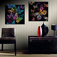 billiga Väggkonst-Kanvas Tryck Moderna, Två paneler Duk Fyrkantig Tryck väggdekor Hem-dekoration