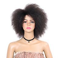 女性 人工毛ウィッグ ショート丈 アフロ変態 ブラック ナチュラルウィッグ コスチュームウィッグ