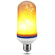 cheap Russia Black Friday-1pc 5W 150lm E27 LED Corn Lights 99 LED Beads SMD 2835 Dimmable Flame Flickering Decorative Warm White 85-265V