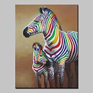 billiga Djurporträttmålningar-mintura® storleksanpassade handmålade färgstarka zebradjur oljemålningar på kanfas väggkonstbilder för heminredning utan inramad