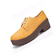 Feminino Sapatos Malha Respirável Couro Ecológico Primavera Outono Conforto Solados com Luzes Tênis Sem Salto Ponta Redonda Cadarço para