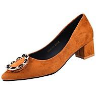 abordables Talons pour Femme-Femme Chaussures Polyuréthane Printemps Automne Confort Chaussures à Talons Talon Bas pour Noir Marron Amande