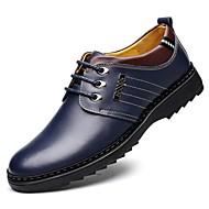 baratos Sapatos Masculinos-Homens Oxford Primavera / Outono Conforto Oxfords Preto / Marron / Azul Marinho