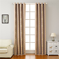 Double Pleat Tab Top Grommet Top Rod Pocket Curtain Formal Casual Modern , Floral Bedroom Polyester Blend Material Blackout Curtains