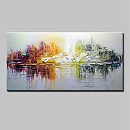 voordelige -Handgeschilderde Abstract Horizontaal, Eenvoudig Modern Kangas Hang-geschilderd olieverfschilderij Huisdecoratie Eén paneel