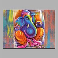 billiga Djurporträttmålningar-Hang målad oljemålning HANDMÅLAD - Djur Djur Utan innerram / Valsad duk