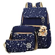 Χαμηλού Κόστους Σετ τσάντες-Γυναικεία Τσάντες Καμβάς Σετ τσάντα Σχέδιο / Στάμπα / Φερμουάρ Αστέρια Ανθισμένο Ροζ / Σκούρο μπλε / Βυσσινί